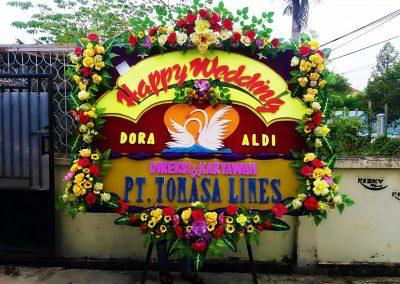 Bunga papan ucapan wedding pekanbaru