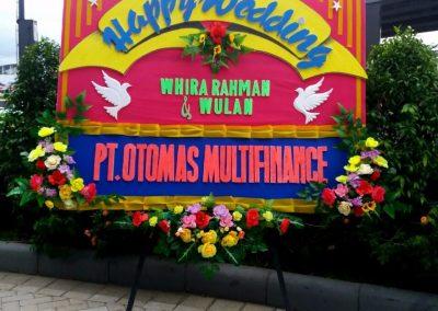 Bunga papan wedding pekanbaru florist