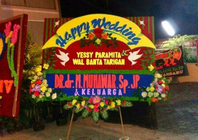 Bunga ucapan wedding pekanbaru