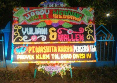 karangan Papan Bunga Pernikahan Bengkulu
